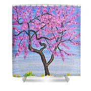 Peach Tree, Painting Shower Curtain