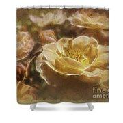 Peach Yellow Roses Shower Curtain