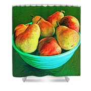 Peaches And Pears Shower Curtain