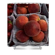 Peaches And Strawberries Shower Curtain