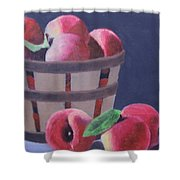 Peaches In A Basket Shower Curtain