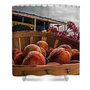 Peaches Shower Curtain