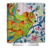 Peacock- Abstract Shower Curtain