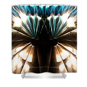 Peacock Art In Abstract Shower Curtain