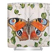 Peacock Butterfly-jp3878 Shower Curtain