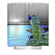 Peacock Fantasy Shower Curtain