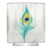 Peacock Feather 2 Shower Curtain