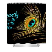 Peacock Feather 6 Shower Curtain