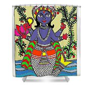 Matsya An Avatar Of Hundi God Vishnu  Shower Curtain