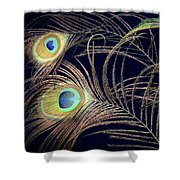 Peacock Feathers -1 Shower Curtain