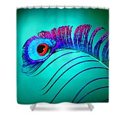 Peacock Feathers 5 Shower Curtain