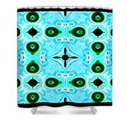 Peacock Feathers Abstract Shower Curtain