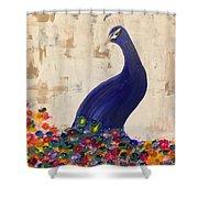 Peacock In My Garden Shower Curtain