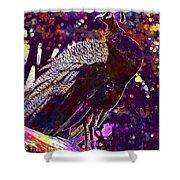 Peacock Lisbon Castle Animal Life  Shower Curtain