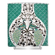Peacock Love-2 Shower Curtain