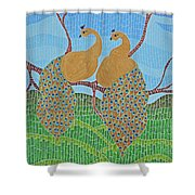 Peacock Love Shower Curtain