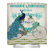 Peacock On Bicycle-jp3608 Shower Curtain