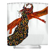 Peacock Xiii Shower Curtain