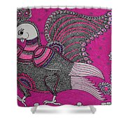 Peacock_pink Shower Curtain