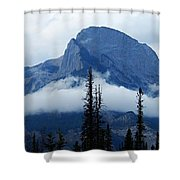 Peak Above The Clouds Shower Curtain
