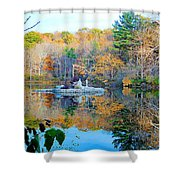 Peak Autumn Reflection 6 Shower Curtain