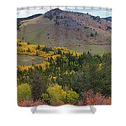Peak To Peak Highway Boulder County Colorado Autumn View Shower Curtain