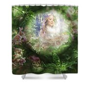 Peaking At Earth Shower Curtain