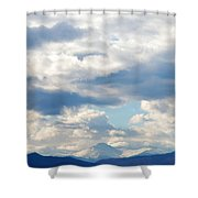 Peaks Among The Clouds Shower Curtain
