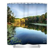 Peaks Of Otter Reflection Shower Curtain