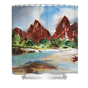 Peaks Of Zion Shower Curtain