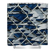 Pealing Paint Fence Abstract 1 Shower Curtain