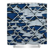 Pealing Paint Fence Abstract 2 Shower Curtain