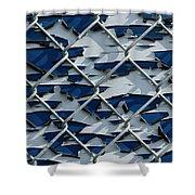 Pealing Paint Fence Abstract 3 Shower Curtain
