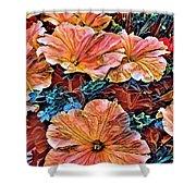 Peanies Flower Blossom Shower Curtain