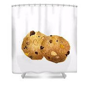 Peanut Butter Chocolate Chip Cookies Shower Curtain
