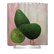 Pear And Avocados Shower Curtain