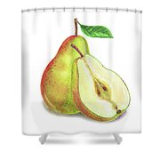 Pear Bunch Shower Curtain