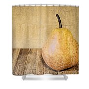 Pear On Cutting Board 2.0 Shower Curtain