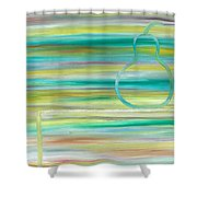 Pear On Table Shower Curtain