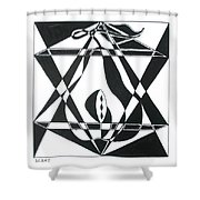 Pear Square Shower Curtain