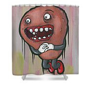 Pear Troll Shower Curtain