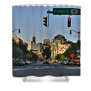 Pearl And Main Street Shower Curtain