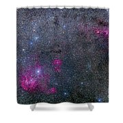 Pearl Cluster And Lambda Centauri Shower Curtain