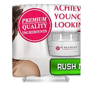 Pearl Essence Skin Cream Shower Curtain