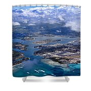 Pearl Harbor Aerial View Shower Curtain