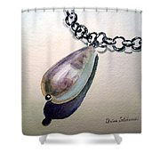 Pearl Shower Curtain by Irina Sztukowski