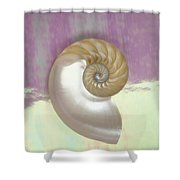 Pearl Nautilus Shell Shower Curtain