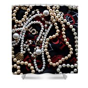 Pearls 2 Shower Curtain