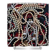 Pearls 3 Shower Curtain