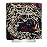 Pearls 4 Shower Curtain